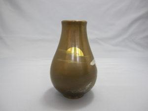 象嵌 朝陽岩上鶴図花瓶 裏面