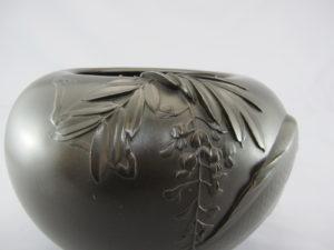 加納晴雲 象嵌游鯉図花瓶 図柄拡大