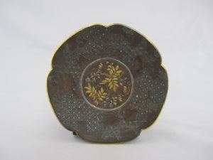 井上守親 鉄象嵌 小皿