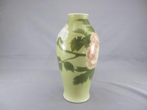 初代 真葛香山 釉可下彩牡丹図花瓶 四面