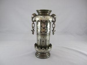 金澤銅器会社製 象嵌 双耳花瓶