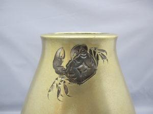桂光春 蟹図花瓶その2蟹図拡大