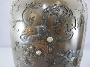 象嵌龍丸紋図花瓶図柄拡大