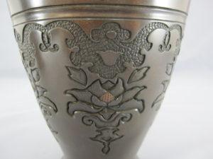 象嵌龍鳳丸紋図花瓶下部図柄拡大