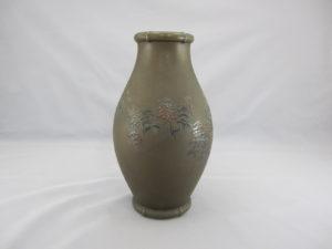 能川製 象嵌月下に松林図花瓶その2