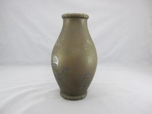 能川製 象嵌月下に松林図花瓶その4