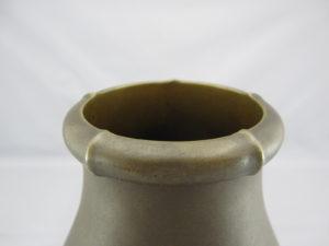 能川製 象嵌月下に松林図花瓶 上部