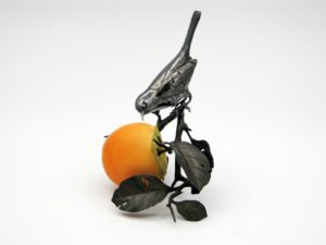 柿と小禽 置物その2