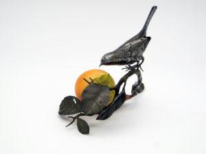 柿と小禽 置物その3