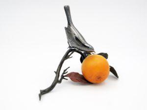 柿と小禽 置物その6