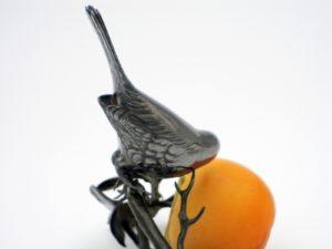 柿と小禽 置物 拡大その4