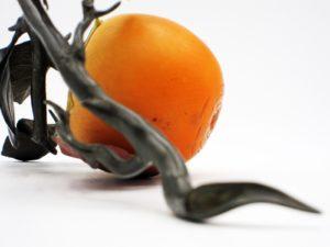 柿と小禽 置物 拡大その5