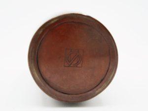 能川製象嵌竹図小花瓶銘
