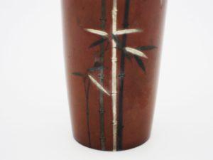 能川製象嵌竹図小花瓶下部拡大