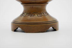 能川製象嵌花鳥風月図双耳変形花瓶下部拡大