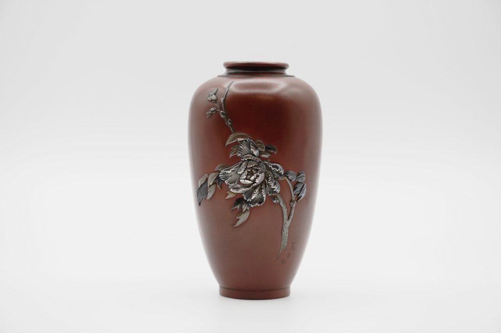 宮部篤良象嵌牡丹図花瓶