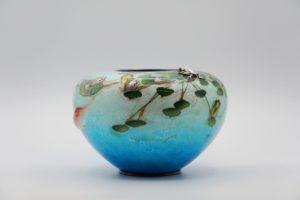 粂野締太郎七宝水面図花瓶③